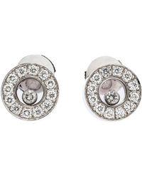Chaumet Happy Diamond 18k White Gold Teddy Bear Pendant - Metallic