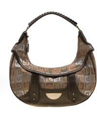Givenchy Multicolor Signature Canvas And Leather Hobo - Brown