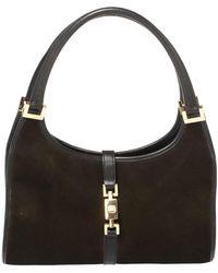 Gucci Dark Brown Suede Jackie O Shoulder Bag