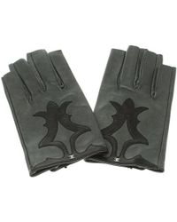Chanel - Leather Cc Gloves - Lyst