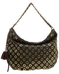Marc Jacobs Green Leather Eyelet Nomad Shoulder Bag