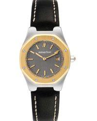 Audemars Piguet Gray 18k Yellow Gold And Stainless Steel Royal Oak Wristwatch 28 Mm