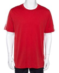 Louis Vuitton Red Cotton Playing Cards Print T-shirt