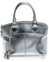 Louis Vuitton Silver Suhali Leather Lockit Pm Bag - Metallic