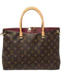 Louis Vuitton Aurore Monogram Canvas Pallas Mm Bag - Brown