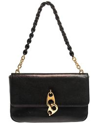 Tom Ford Black Leather Carine Flap Bag