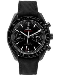 Omega Black Ceramic Speedmaster Co-axial 311.92.44.51.01.003 Men's Wristwatch 44 Mm
