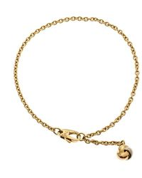 Cartier Love Knot Three Tone 18k Gold Dangling Charm Bracelet - Metallic