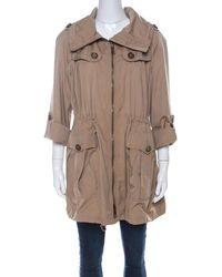 Burberry Beige Detachable Hood Bageford Anorak Jacket M - Natural
