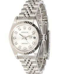 Rolex Silver Diamonds 18k White Gold And Stainless Steel Datejust 79174 Wristwatch 26 Mm - Metallic
