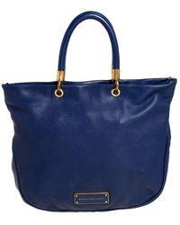 Marc By Marc Jacobs Blue Soft Leather Bentley Tote