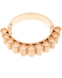 Mawi - Retrospective Embedded Crystal Rose Gold Plated Tube Cuff Bracelet 19cm - Lyst