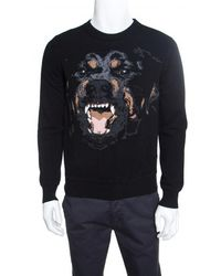 Givenchy - Wool Rottweiler Pattern Crew Neck Sweater M - Lyst