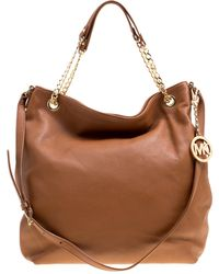 MICHAEL Michael Kors - Michael Kors Leather Jet Set Chain Hobo - Lyst