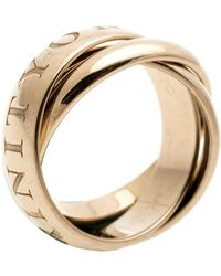 Cartier Or Amour Et Trinity 18k Yellow Gold Rolling Ring Size 50 - Metallic