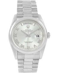 Rolex - Glacier Blue Platinum President Day-date Men's Wristwatch 36mm - Lyst