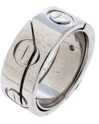 Cartier Astro Love 18k White Gold Ring Size 47 - Metallic