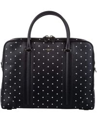 Givenchy Black Printed Leather Briefcase Bag