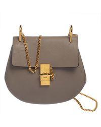 Chloé Grey Leather