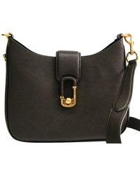 Marc Jacobs Black Leather Interlock Small Hobo Bag