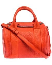 Alexander Wang Orange Leather Small Rockie Satchel