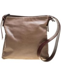 58cd4a2220 Bottega Veneta Woven Leather Messenger Bag in Brown for Men - Lyst