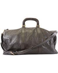 Chanel Black Lambskin Leather Vintage Boston Bag