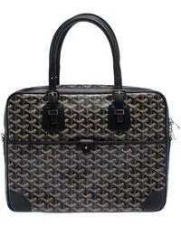 Goyard Black Ine Canvas And Leather Ambassade Pm Briefcase
