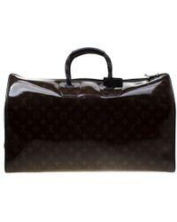 Louis Vuitton Glazed Monogram Canvas Automne Hiver 2018 Keepall Bandouliere 50 Bag - Brown