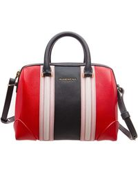 Givenchy Multicolor Leather Mini Lucrezia Duffle Bag - Red