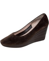 Ferragamo Brown Leather Heels
