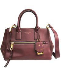 Marc Jacobs Bordeaux Leather Recruit E/w Satchel - Multicolor