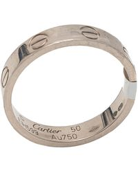 Cartier Love White Gold Ring Size 50 - Metallic