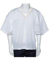 Fear Of God Fifth Collection White Manuel Mesh Football Jersey