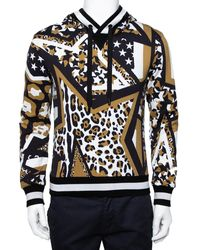Dolce & Gabbana Multicolor Multiprinted Cotton Hoodie