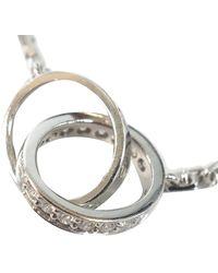 Cartier Love Diamond 18k White Gold Necklace - Metallic