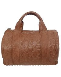 Alexander Wang Brown Leather Rocco Satchel