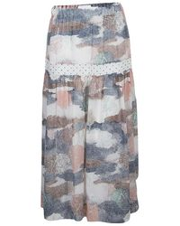 See By Chloé Multicolour Printed Partially Lined Maxi Skirt