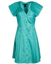 Marc By Marc Jacobs - Lurex Striped Pleat Detail Button Front Dress M - Lyst
