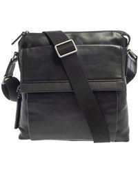 Tumi Black Leather Dfo Monroe Oxford Top Zip Flap Messenger Bag