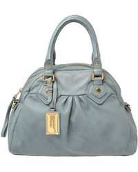 Marc By Marc Jacobs Gray Leather Classic Q Baby Groovee Satchel