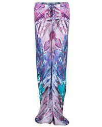 Roberto Cavalli Pink Hued Silk Palazzo Pants