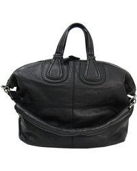 Givenchy Black Leather Medium Nightingale Tote