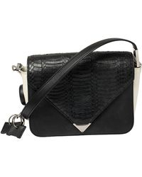 Alexander Wang Black Leather Small Prisma Envelope Crossbody Bag