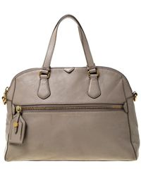 Marc By Marc Jacobs Light Beige Leather Satchel - Natural