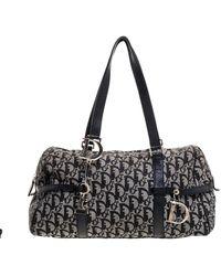 Dior Black Oblique Canvas Charms Satchel