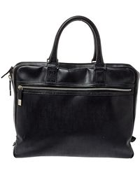 Dior Homme Black Oblique Coated Canvas Document Briefcase