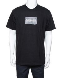 Supreme - Black Cotton Swarovski Box Logo Crew Neck T-shirt - Lyst