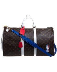 Louis Vuitton X Nba Monogram Canvas Basketball Keepall 55 Bag - Brown