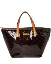Louis Vuitton Amarante Monogram Vernis Bellevue Pm Bag - Black